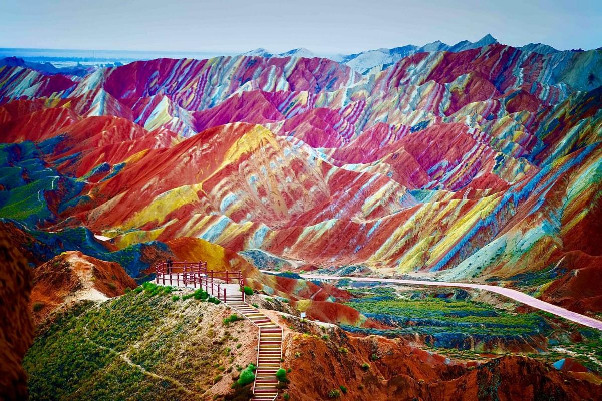 the rainbow mountains