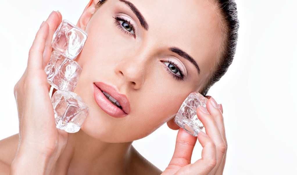 benefits of ice cubes on facial skin