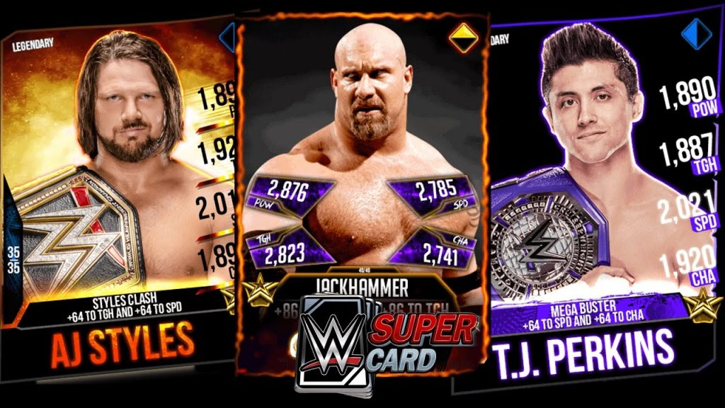 wwe supercard cards