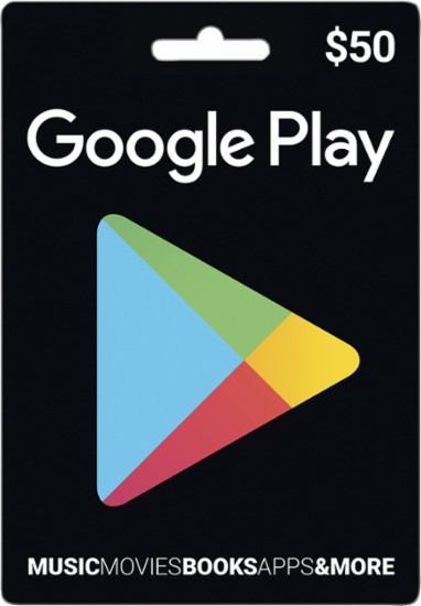 Google Play Store gift card $50 for free
