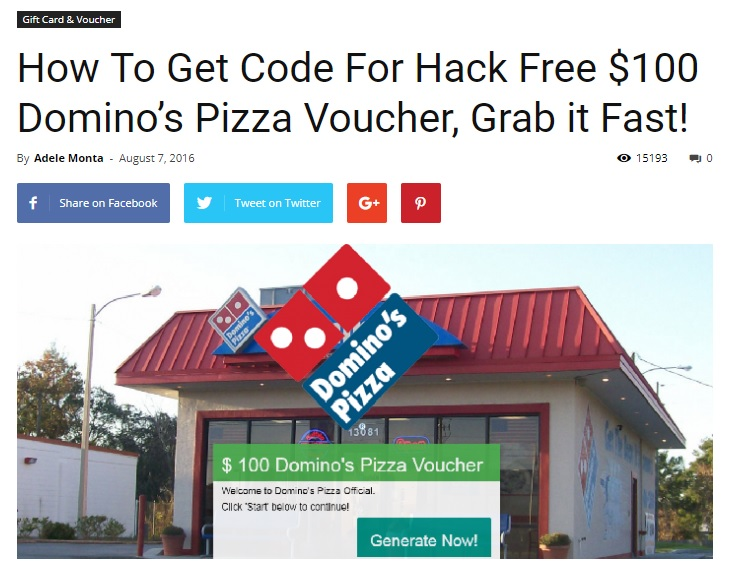 My Experience of Receiving Free Dominos Pizza Voucher