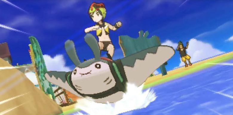 pokemon ultra sun and moon mantine surfing