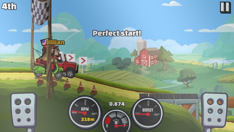 hill climb racing gameplay